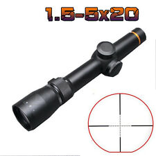 Spotting Scope 1.5-5×20 Optics Mil-Dot Reticle Gun Rifle Scope Laser Sight