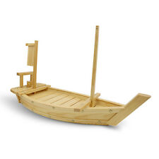 Wooden Bamboo Sushi Boat Serving Tray Platter 23.6 inch 60cm Large Long Cool Set