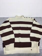 Vintage Etienne Aigner Women's Small Crew Striped Sweater Made In Usa