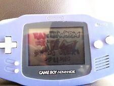 Nintendo GameBoy Game Boy Advance Indigo System W/Earthworm Jim GBA (AGB-001)