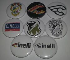 8 Cinelli button badges 25mm Pedel fixie bike Milano cycle bicycle