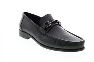 Bruno Magli Prato BM600638 Mens Black Leather Loafers & Slip Ons Penny Shoes 10