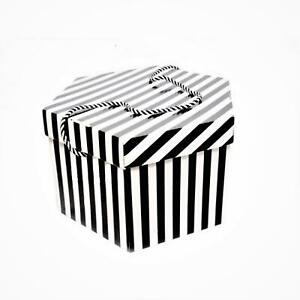 27cm candy stripe fascinator box for millinery fascinators wedding hats HA027