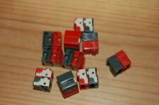 10 Stück Wago KNX Busanschlussklemme EIB rot dunkelgrau 243-211 Microklemme NEU