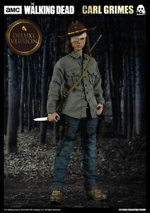 "The Walking Dead Carl Grimes Deluxe 12"" Acción Figura 1/6 Escala AMC ThreeZero"