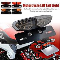 LED Rücklicht Bremslicht + Kennzeichenbeleuchtung Universal Motorrad Quad ATV