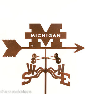 University of Michigan Weathervane Wolverines UM, U of M, M - w/ Choice of Mount