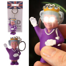 Rule Britannia LED Light and Sound Queen Novelty Keyring Key Chain Toy