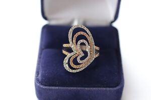Bague Diamants Coeurs 18K