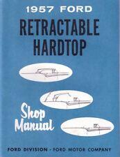 1957 Ford Retractable Hardtop Shop Service Repair Manual