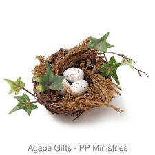 Darice Spring Easter Decor - Miniature/Fairy Garden Birds Nest & Eggs