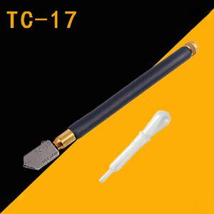 TOYO TC-17 Oil Glass Cutter Metal Handle Diamond Straight Head Cutting Tool New