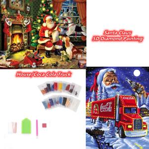 Christmas Santa Claus 5D Full Drill Diamond DIY Painting Kits Arts Home Decor UK