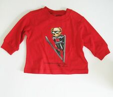 Polo Ralph Lauren Baby Boys Ski Bear Jersey Long Sleeve T Shirt Red Sz 3M - NWT