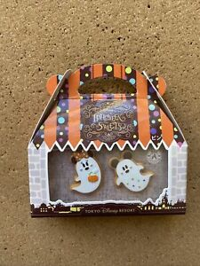 Tokyo Disney Resort Pin TDR Halloween sweets Ghost Mickey & Minnie Mouse 2018