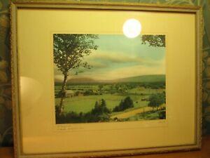 "vintage real photo tinted Margaree cape breton nova scotia ca artist ""Rice"""