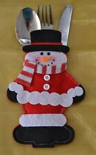 Snowman Christmas Table Decorations Cutlery Holder Novelty Christmas Gifts