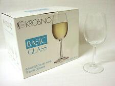 (36459) LOTE 6 COPAS CRISTAL VINO BLANCO PURE BASIC 250ML KROSNO