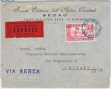 47674 - ETIOPIA Ethiopia  Storia Postale: BUSTA ESPRESSO da ASMARA a MILANO 1955