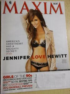 april 2012 Maxim #172 Jennifer Love Hewitt sexy cover Amanda Bynes Katrina Law
