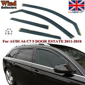 Magickit TINTED RAIN WIND DEFLECTORS for AUDI A6 C7 5 DOOR ESTATE 2011-2018 4pc