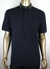 ce9e0cf74 Gucci Men s Ink Blue Cotton Polo w detachable Leather Collar 2XL 359523 4185