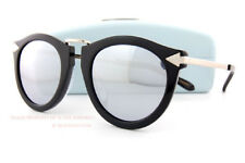 76079de3c18d Brand New KAREN WALKER Sunglasses Superstars Harvest Black Silver Mirror  Women