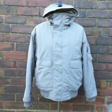 Helly Hansen Retro Padded Winter Coat Grey Warm Men's Size M Medium Hood