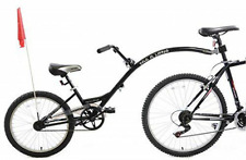 "Ammaco Tagalong Towaway Tandem Kids Folding Trailer Bike 20"" Wheel Black 5-8 Yrs"