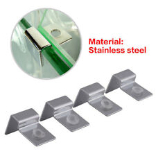 4Pcs 6mm-12mm Stainless Steel Aquarium Lid Holder Fish Tank Clips Cover -UK