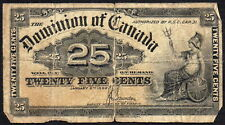Dominion of Canada 25 Cents Shinplaster 1900 (Saunders)