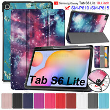 """For Samsung Galaxy Tab S6 Lite 10.4"""" SM-P610 P615 Tablet Leather Flip Cover Case"""