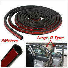8M Big D Shape Car Door Window Trim Edge Moulding Rubber Weatherstrip Seal Strip