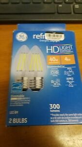 GE Refresh Led Daylight HD 40w Dimmable 31517 2 Bulbs new in box