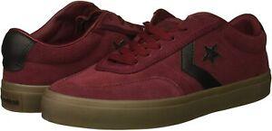 NEW Converse Courtlandt Ox Suede Shoes Sneakers Dark Red Black Brown Mens SZ 9.5