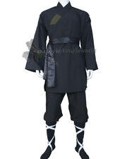 Shaolin Monk Uniform Kung fu Tai chi Suit Martial arts Wushu Sets Black Cotton