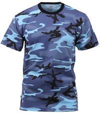 Blue Kids Camo Boys T-shirt Sky Blue Camouflage Youth Rothco 6707
