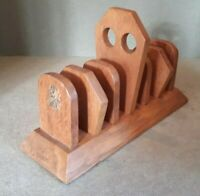 Antique Solid Oak Art Deco Toast Rack 23.5 x 15.5 x 8.5 cms
