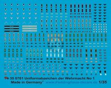 Peddinghaus 1/35 German Wehrmacht Uniform Insignia WWII No.1 [Decal] 701