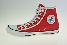 Converse Chuck Taylor All Star Hi Red Canvas163980C Men's Trainers Size Uk 7