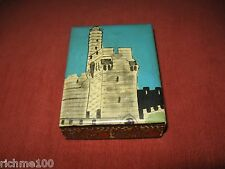 Rare Vintage Israel Hand Made Trinket Jewelry Lacquer Box Citadel Jerusalem