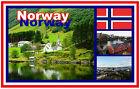 NORWAY - SOUVENIR NOVELTY FRIDGE MAGNET - BRAND NEW - GIFT