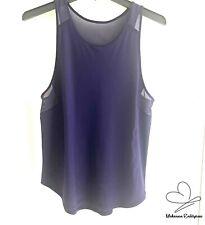 Lululemon Athletic Sheer Top Purple Workout Tank Sleeveless Shirt SZ 8 M Purple