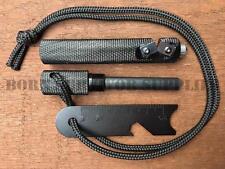 LARGE ARMY FIRESTEEL - Knife Sharpener & Glass Breaker Bushcraft Fire Starter