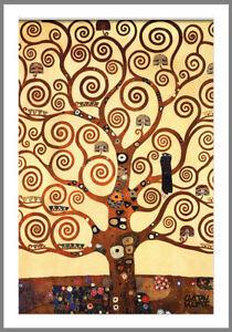 """Gustav Klimt Tree Of Life art painting vintage canvas Portrait  39"""" x 24"""""""