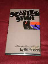 Scattershot by Bill Pronzini (1982, HC) SIGNED first print Nameless Detective #8
