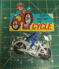 Vintage plastic motorcycle in package - Enjoy your new cycle Toy NOS