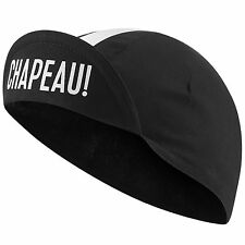 Chapeau! Grosgrain Cotton Bike Cycling Cycle Peaked Cap Hat - Black - One Size