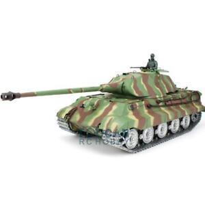 1/16 Scale HengLong Customized King Tiger RTR RC Tank Model 3888 W/ Metal Wheels