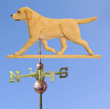 Yellow Labrador Retriever Hand Carved Hand Painted Basswood Dog Weathervane